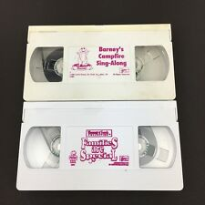 Barney Camp Fire Sing Along And Families Are Special VHS Tapes Set Of 2