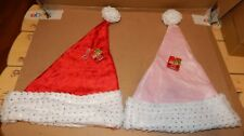 Christmas Sparkle Santa Hats His & Hers 2 Each Adult Head Size Be Jolly 150G