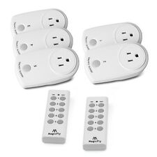 5 Pack Wireless Remote Control Outlet Electrical Power Plug Light Switch Socket