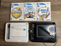 Wii uDraw Game Tablet Lot w/ 3 Games Bundle U Draw Studio + Pictionary & Artist