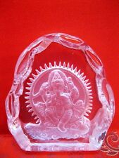 Crystal Ganesha Ganesh Hand carved in Pure Clear Natural Quartz Crystal~DIWALI