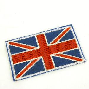 Large UK British Flag Union Jack  Sew On Patch  75mm x 45mm  P361