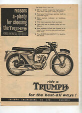 Triumph Tiger Cub Motorcycle Original Advertisement from a Magazine