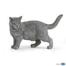 Kartäuser Katze 7 cm Bauernhoftiere Papo 54040