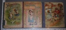 ANTIQUE CHILDRENS BOOK LOT THE THREE BEARS GRIMM'S FAIRY TALES BIG STORY BOOK