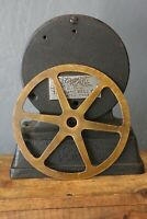 vintage Game well Fire Alarm Telegraph Ticker tape reel brass wheel parts repair