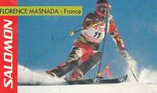 FLORENCE MASNADA *FRA* >  2 x 3. Olympics 1992 + 1998 / ASK - sign. card