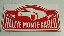 1 x RALLYE MONTE-CARLO Aufkleber - Größe: 15,5 x 31cm - in rot