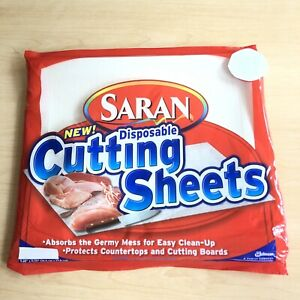 Saran Disposable Cutting Sheets Board 23 Pieces New Open Package Discontinued