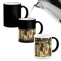 Alpaca Herd Stunning  Novelty Heat Colour Changing Magic Mug