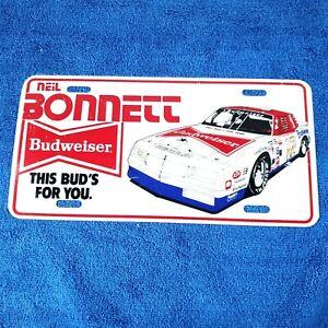 NEIL BONNETT #12 Monte Carlo Chevy  Budweiser vintage license plate rare