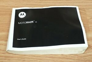 Genuine Motorola Motorazr V3 Flip Phone Manual / Guide Only **READ**