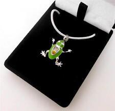Millefiori Green Tree Frog Memorial Keepsake Cremation Funeral Ash Pendant NIB