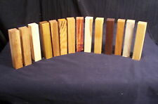 14 Piece 14 Species 1 Inch Thick Labeled Pen Blanks Lathe Turning Lumber Craft