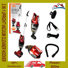 NEW QUEST 2 IN 1 UPRIGHT & HAND HELD BAGLESS COMPACT VACUUM CLEANER HOOVER 800W