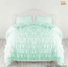 100% Egyptian Cotton Bedding Ruffle Duvet/Quilt Cover Set 1000TC All Size &Color