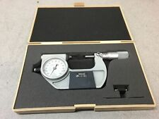 Mitutoyo 510-122 Dial Indicating Micrometer, Ratchet Stop, 25-50mm Range