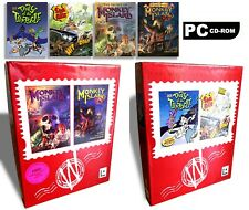 Sam & Max, Day Of The Tentacle, Monkey Island 1&2 LucasArts PC CD Games