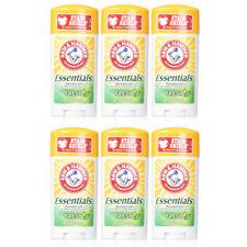 Arm & Hammer Essentials Natural Deodorant Fresh 2.5 oz (Pack of 6)