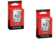 Lot of 2 Genuine Lexmark #32 Black Ink Cartridges NEW
