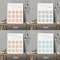 Personalised Modern Wedding Seating Plan Planner Table Plans Chart | A1 A2 A3