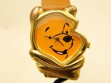 Disney collectible Winnie The Pooh Face watch with leather band  lot 564