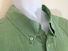 Tommy Hilfiger Mens shirt Size XL Flip Cuffs Green Checks Cotton Good Condition