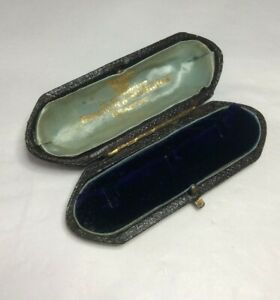 Stud  Box Antique Vintage Victorian Appointment to the Price of Wales (1424J)