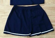 "Adult L Xl Real Navy Blue Cheerleader Uniform Skirt 30-34"" Anime Cosplay New"