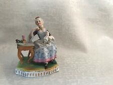Antique Dresden porcelain figurine of the Lady.