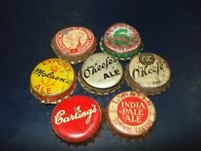 Lot of 7 - Canada cork beer bottle caps - Canadian Crowns - lot #1