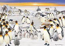 Rectangular Jigsaw - Penguin Party
