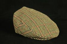 Hawkins Country Collection Beige, Brown &Green Houndstooth Flat Cap 60 cm XL