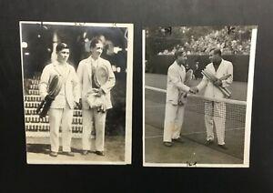Lot VTG 1926-1927 Rene LaCoste Tennis Davis Cup Wire Press Photo Original Rare