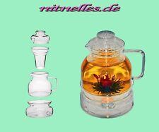 1,5L TERMISIL Glas Tee Kanne mit Stövchen für Temperaturen von -50°C bis +500° C