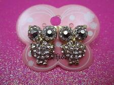 Owl Crystal Earrings