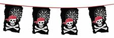 Pirate Skull & Crossbones Flag Bunting Decoration 33ft / 10M Long - New & Sealed