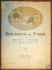 1915 Sourires de Paris. Porte-folio de 16 estampes de Steinlen, Willette, Iribe