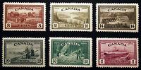 Canada #268-#273 1946 VF *MNH*  Post Office Fresh CV $150+