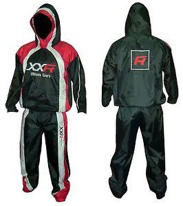XXR Hooded Heavy Duty Sweat Suit Sauna Exercise Gym Suit Excersize Fitness