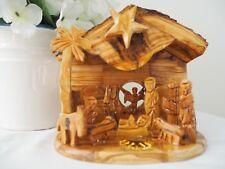 Olive Wood Musical Nativity Scene