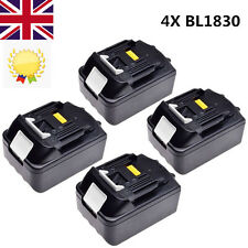 4X Makita BL1830 Tool Battery 18V 3.0Ah 3Ah 54Wh Lithium-ion Li-ion LG Cells LXT
