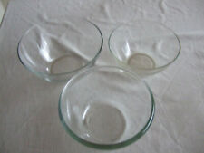 3 Assorted Glass Mixing Bowls Cafe Restaurant Catering