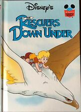 Walt Disney The Rescuers Down Under HB Book Grolier 1993 Wonderful World Reading
