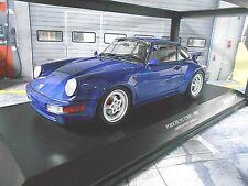 PORSCHE 911 964 Turbo Coupe 1990 blau blue NEW NEU Minichamps Diecast  1:18