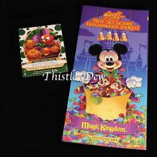SORCERERS Halloween 2018 ORANGE BIRD CARD Magic Kingdom MICKEY'S PARTY GUIDE
