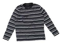 Marks & Spencer Mens Size XL Cotton Striped Grey Long Sleeve T-Shirt