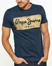 Original T-Shirt Homme Manches Courtes PEPE JEANS CHARING Bleu Blue T.S