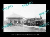 OLD 8x6 HISTORIC PHOTO OF ANTRIM NEW HAMPSHIRE THE B&M RAILROAD DEPOT c1900