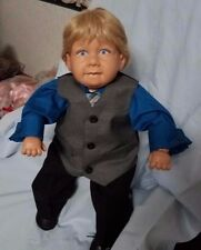 "PAT SECRIST  22"" DOLL MYLO 1993 BOY BABY BLONDE HAIR AND BLUE EYES"